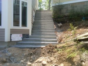 Concrete Stairs in New Hampshire
